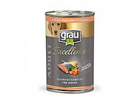 Консерва GRAU 400гр. Excellence ADULT Lachs mit Pastinaken & Karotten (лосось+пастернак и морковь)