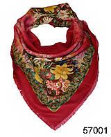 Платок шерстяной лилия красный, фото 1