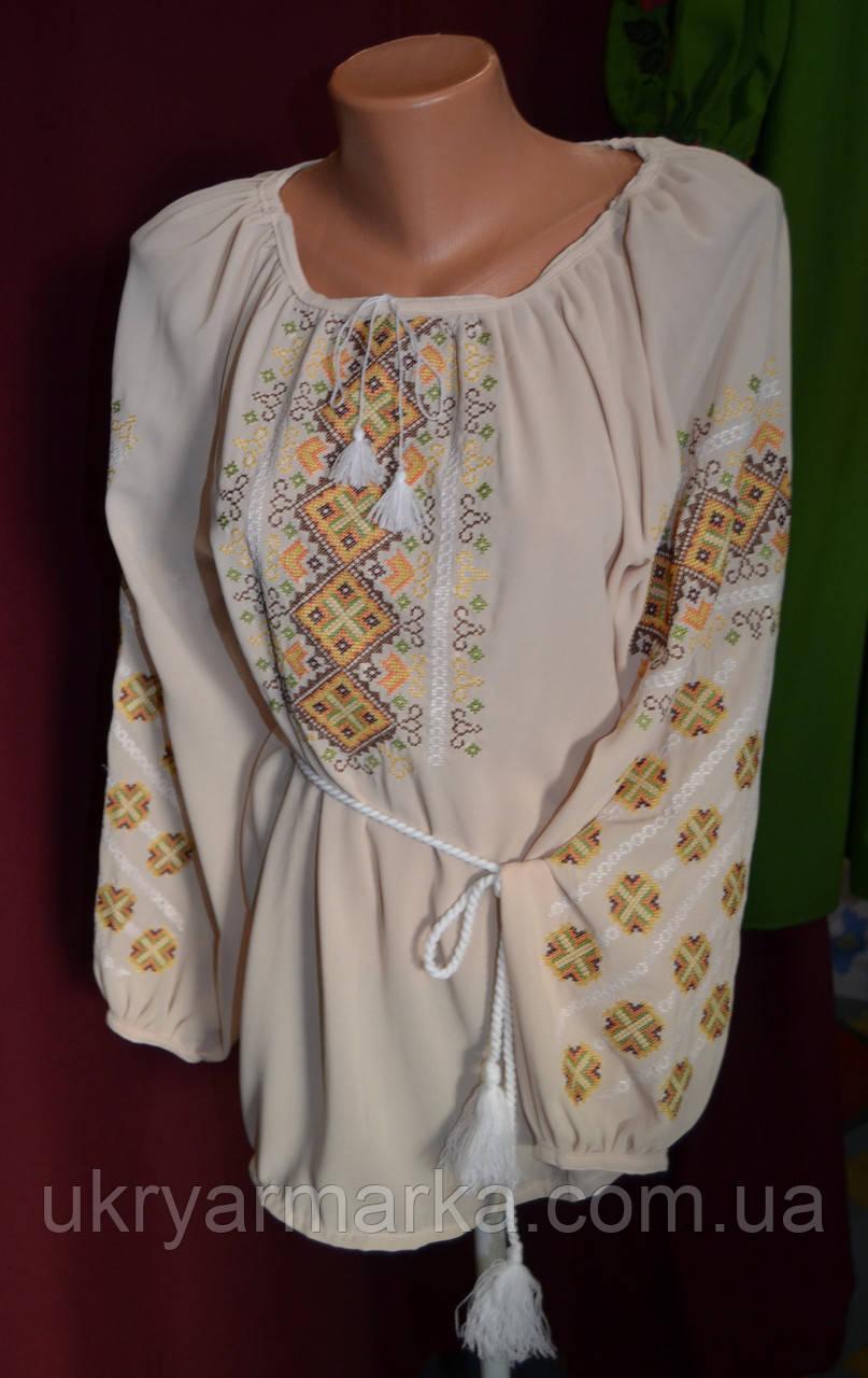 """Жіноча вишивана блузка """"Сонячний орнамент"""""""