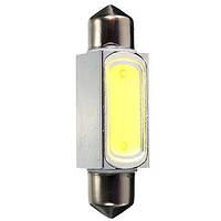 Лампочка автомобильная диодная белый LED 36/39/41мм