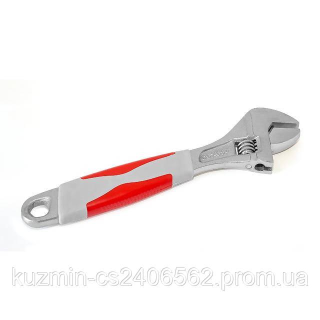 Ключ разводной 250мм; изолированная рукоятка; никелевое покрытие INTERTOOL XT-0025