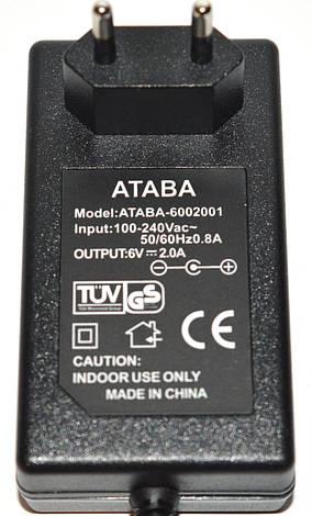 Блок питания 6V 2A ATABA (5.5*2.1) , фото 2