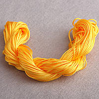 Нить шнур для шамбалы Желтый моток 13 м  Ø 1мм