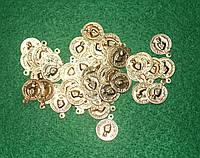 Монетки золото 20028 упаковка 10 шт