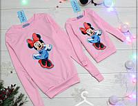 Свитшот детский Minnie, парные свитшоты мама и дочка