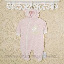 Комбинезон махровый теплый, человечки для новорожденных. Код 1409KAY+GERDA. Рост 44-50,56,62,68 в наличии., фото 3