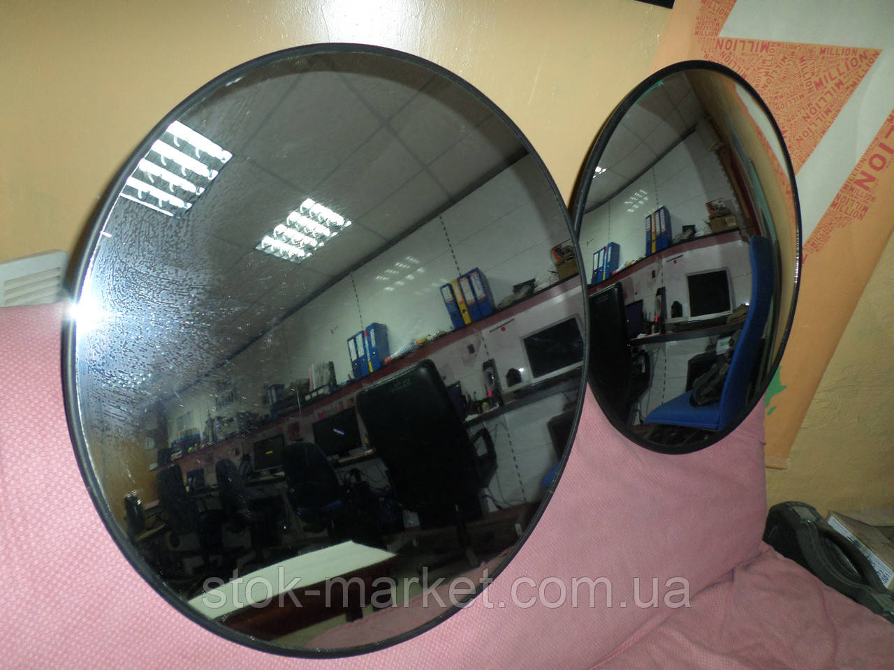 Дзеркало оглядове 600 мм, б/в, дзеркала противо кражные б, сферичні дзеркала безпеки б/у.