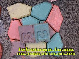 """Наши эксперименты по применению красителей для бетона. Залили форму """"Садовая дорожка"""" и бордюрный камень"""