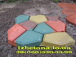 Разноцветная карсота! Садовая дорожка при добавлении пигмента.