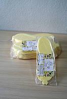 Тапочки одноразовые в упаковке 20 пар, гладкий изолон 4 мм, р.36-40, кремовый Panni Mlada