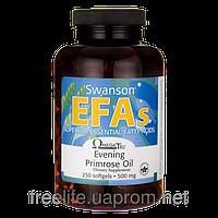 Масло примулы вечерней, для репродуктивной системы, Swanson 500 мг 250 капсул