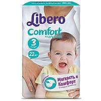 Подгузники детские Libero Comfort 3 (4-9 кг), 22 шт