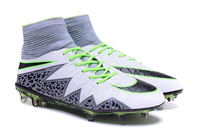 Футбольные бутсы Nike Hypervenom Phantom II FG Pure Platinum/Black/Ghost Green