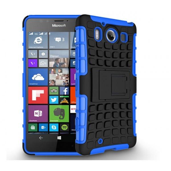 Бронированный чехол для  Microsoft (Nokia) Lumia 950 Пластик, Подставка, Microsoft Lumia, Синий