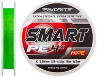 Шнур Favorite Smart PE 4x 150м (салат.) #3.0/0.296мм 15.5кг