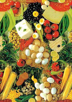 Клеенка Люкс Натюрморт Овощи 1,40 см