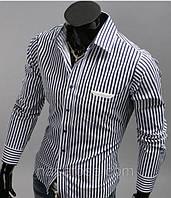 Мужская рубашка в полоску 44р.