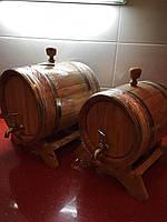 Дубова бочка з натурального дерева для вина та коньяка 10 л