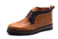 Зимние ботинки Gekon мужские, на меху, натуральная кожа, рыжие, р. 40