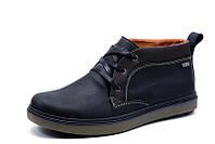 Зимние ботинки Cayman, мужские, на меху, натуральная кожа, черные, р. 40