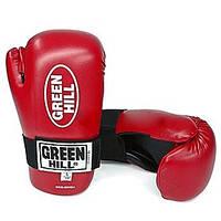 Перчатки для кикбоксинга Green Hill Semicontact (красные) - S