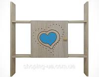 Полка BABY BOO гравированное голубое сердце