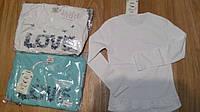Реглан для девочки,блузка коттоновая 110-128 Zelish
