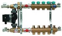 Коллектор в сборе KAN-Therm 7302А (2 отвода) с насосом