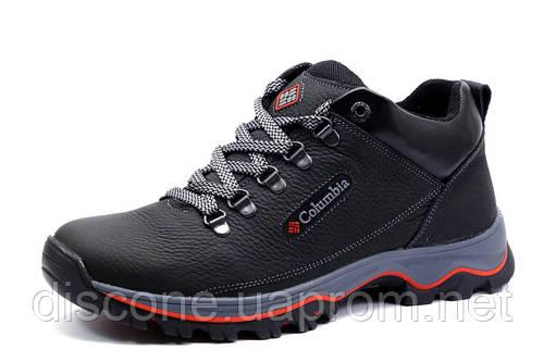 Зимние ботинки мужские на меху Columbia TRACK II, черные, натуральная кожа