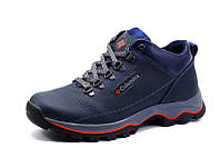 Зимние ботинки мужские на меху Columbia TRACK II, синие, натуральная кожа, р. 40