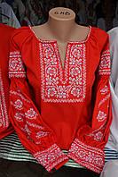 """Жіноча вишита блузка """"Родинне дерево"""" червона , фото 1"""