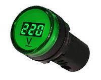 Вольтметр цифровой AD22-22DVM зеленый