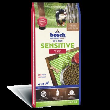 Bosch Sensitive Lamb & Rice 15 кг - корм для собак, склонных к аллергии (ягненок/рис)