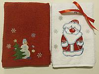 Набор из 3 махровых полотенец с вышивкой 40*70см