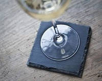10х10 см, сланцевая подставка под бокал или чашку