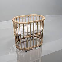 Овальная кроватка Luxbed Ольха, шлифованная., фото 1