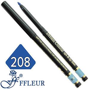 Ffleur - Карандаш ML-200 для глаз механический Тон №208 rich blue перламутр