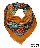 Купить платок шерстяной лилия янтарный