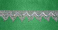 Тесьма декоративная люрекс серебро  6101