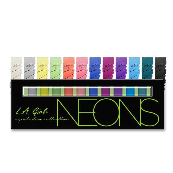 L.A.Girl GES 334 Beauty Brick Eyeshadow Collection Ultra - Палитра теней для век (неоновые), 12 г