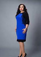 Эффектное женское платье-туника увеличенных размеров