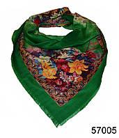Платок шерстяной лилия зеленый, фото 1