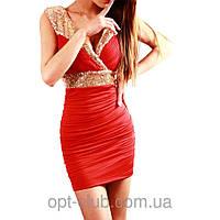 Облегающее Женское платье с пайетками (разные цвета 42-48), фото 1