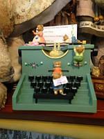 Музыкальная печатная машинка зелёная