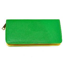 Зеленый женский кошелек из кожзаменителя