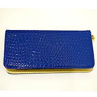 Синий женский кошелек из кожзаменителя