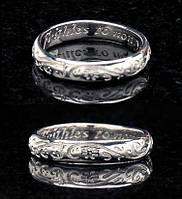 Платиновое обручальное кольцо от WickerRing