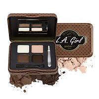 L.A.Girl GES 343 Inspiring Brow Kin Dark and Defined - Набор для коррекции и макияжа бровей, 3.7 г