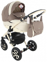 Детская коляска универсальная 2 в 1 Adamex Barletta 03P (Адамекс Барлетта)