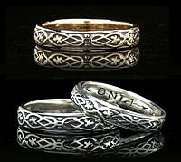Золотое обручальное кольцо «Только твой» от WickerRing